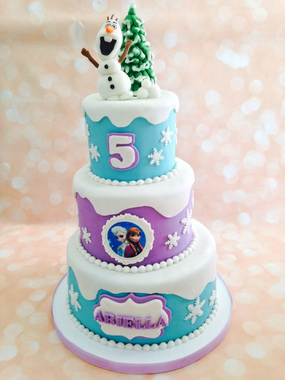 6 Photos of Frozen 3 Tier Birthday Cakes