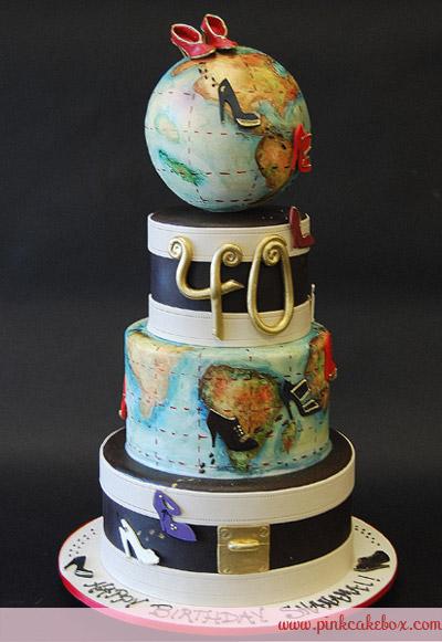 40th Birthday Globe Cake