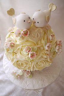 Anniversary Cakes with Birds