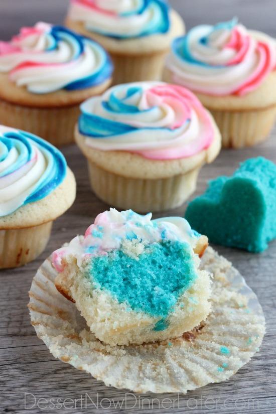 Baby Gender Reveal Cupcake Ideas