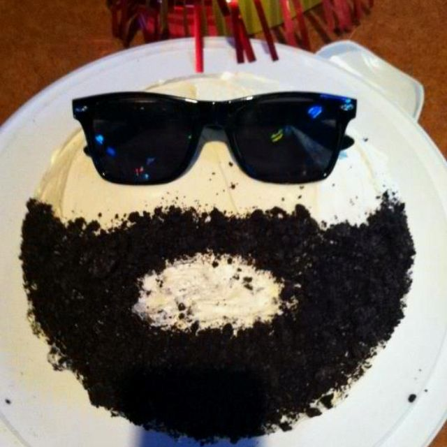 Bearded Birthday Cake