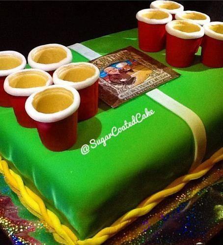 Beer Pong Birthday Cake