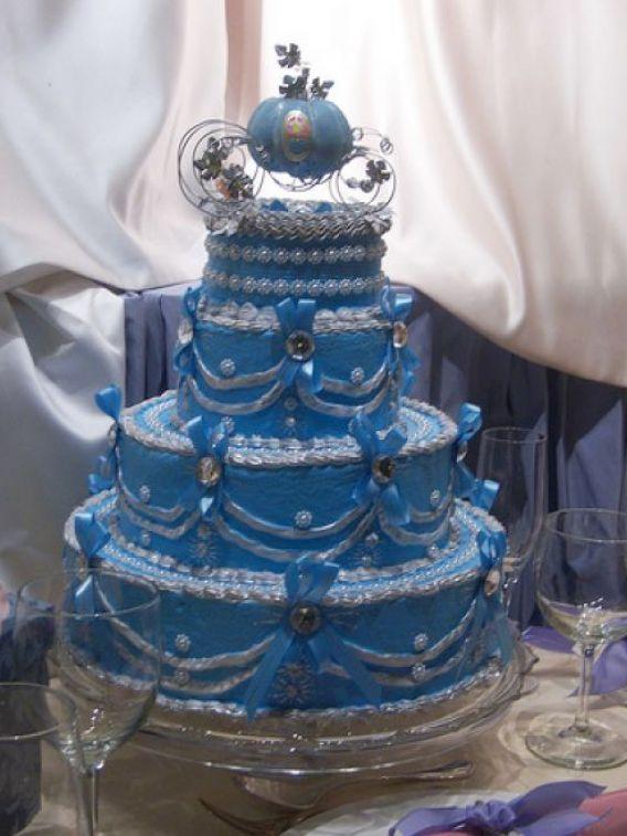 Blue Cinderella Wedding Cake