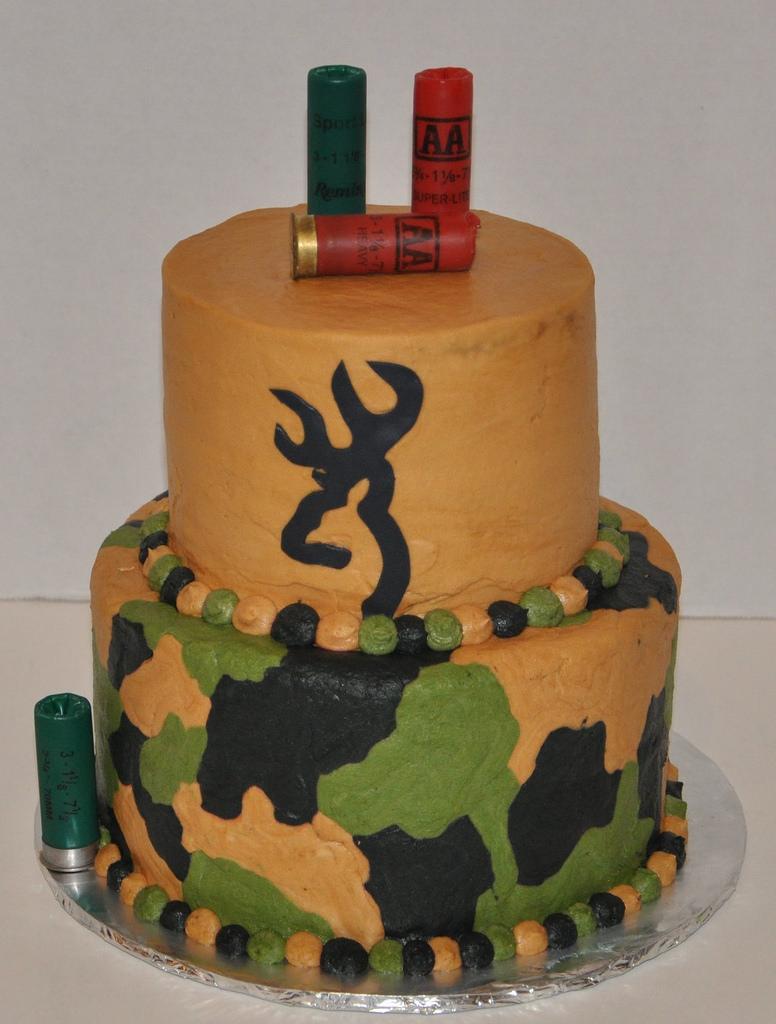 Browning Deer Camo Cake