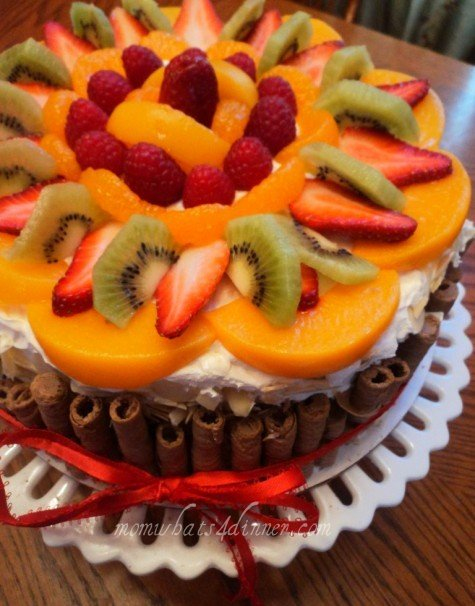 6 Photos of Mixed Fruit Topped Cakes