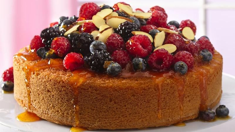 Cake with Fruit Topping Recipe