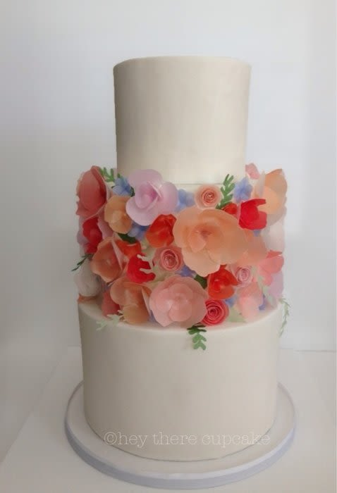 Cake with Wafer Paper Flower