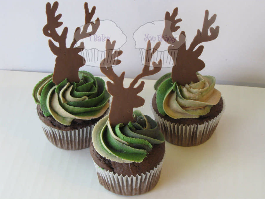 Camo Deer Cupcakes