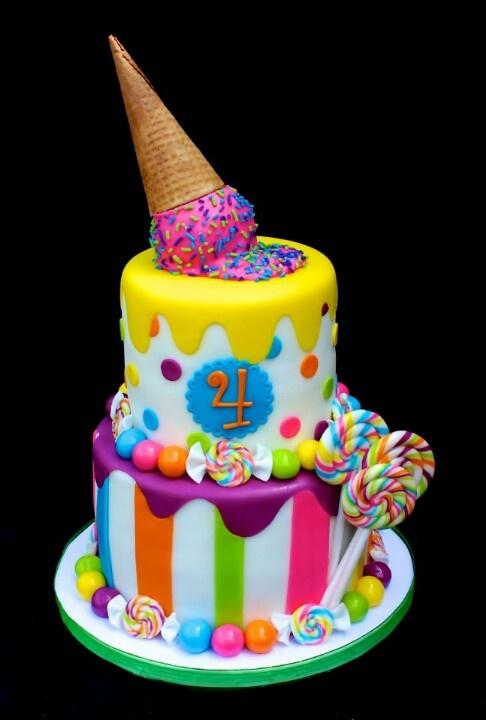 Candy Birthday Cake Ice Cream