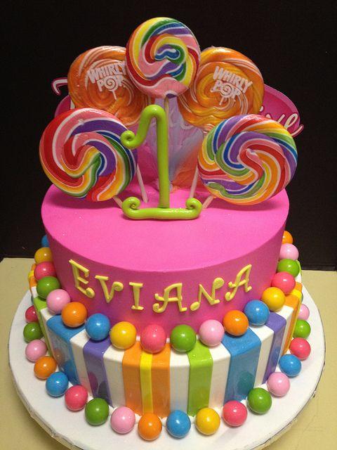 Candy Land Birthday Cake Idea