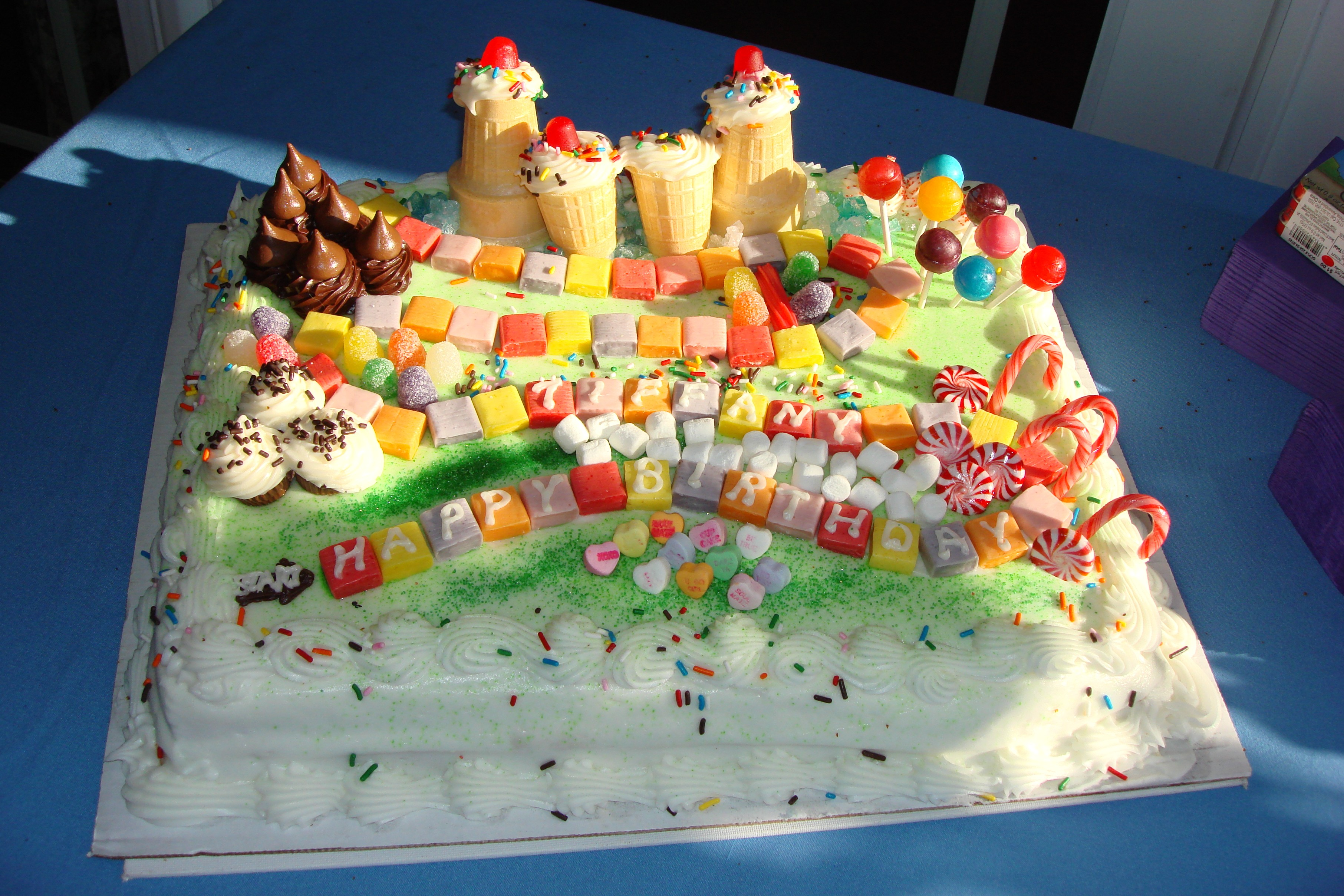 Candy Land Party Theme Cakes