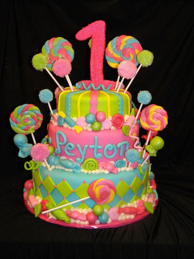Candy Land Theme Birthday Cake