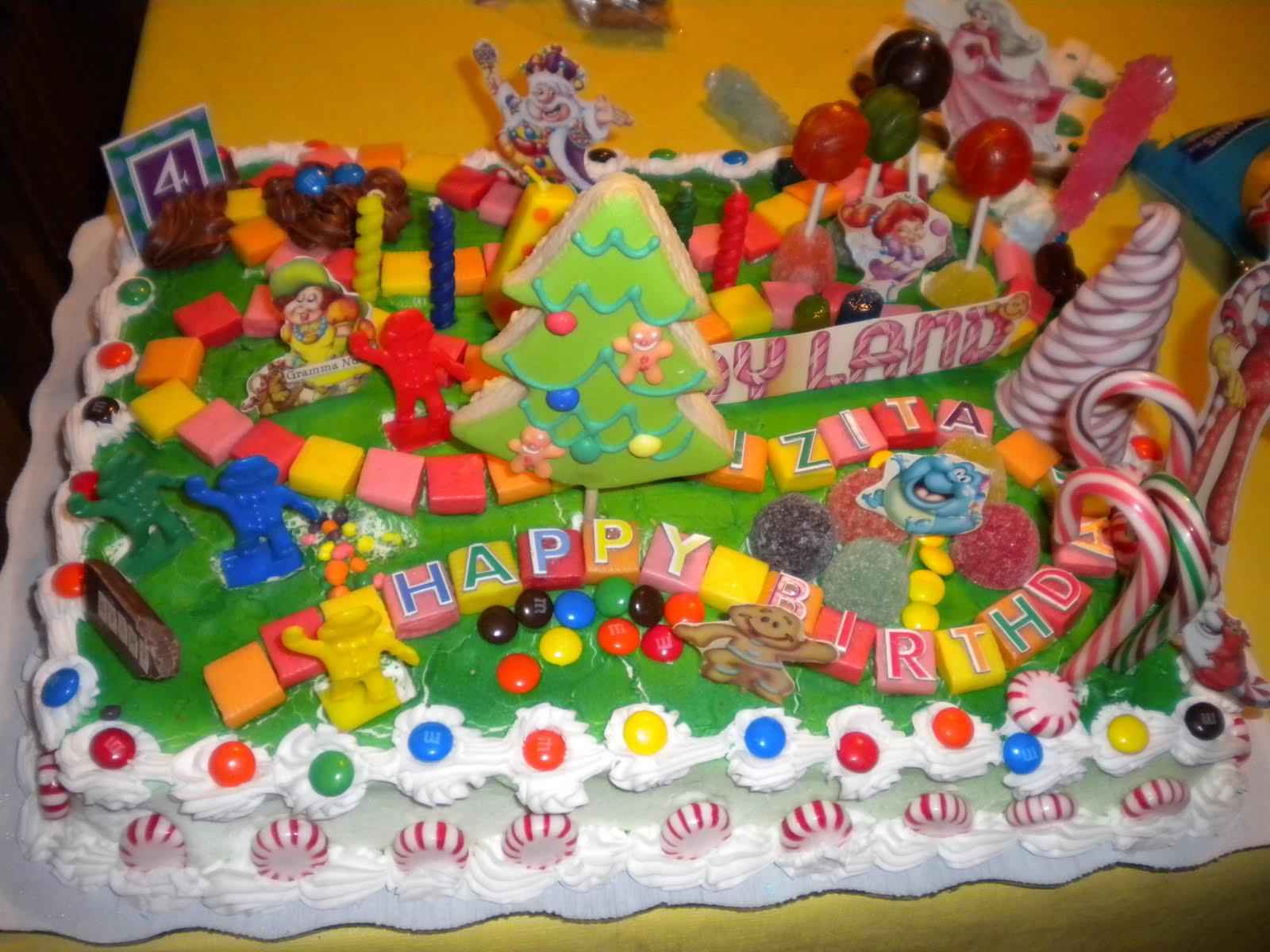 Candyland Birthday Cake Idea