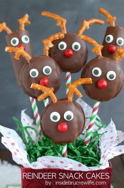 Christmas Reindeer Pretzel Treats