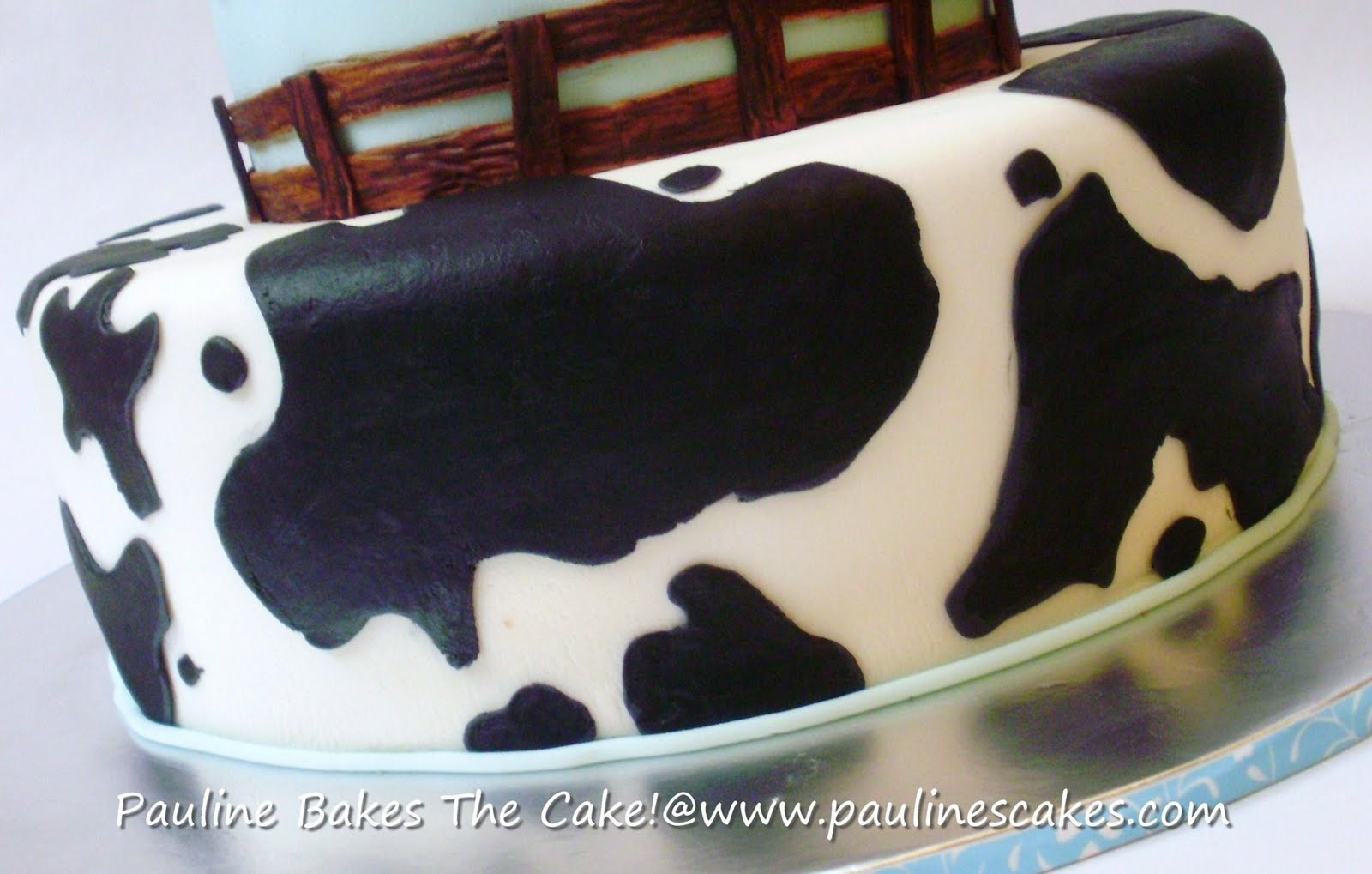 Cow Print Birthday Cake