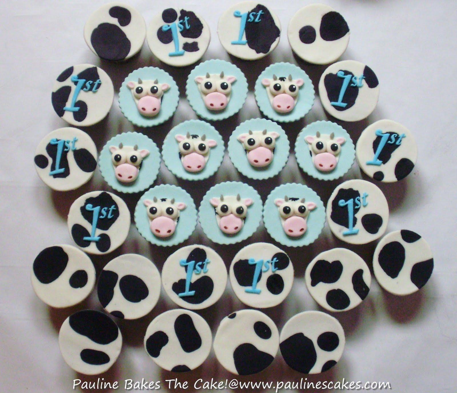 Cow Print Cupcakes