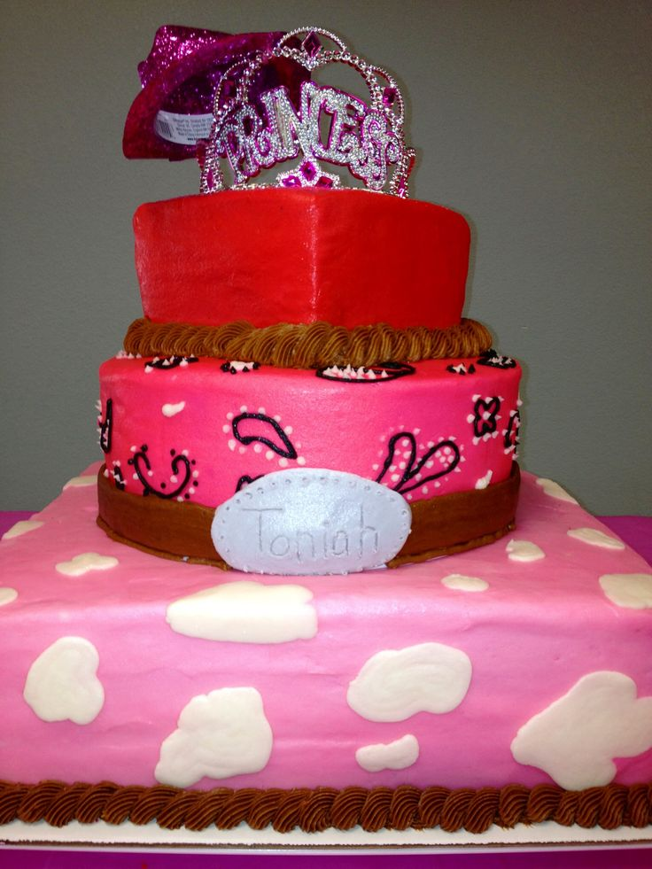 Cowgirl Princess Birthday Cake