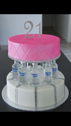 Cute 21st Birthday Cake Idea