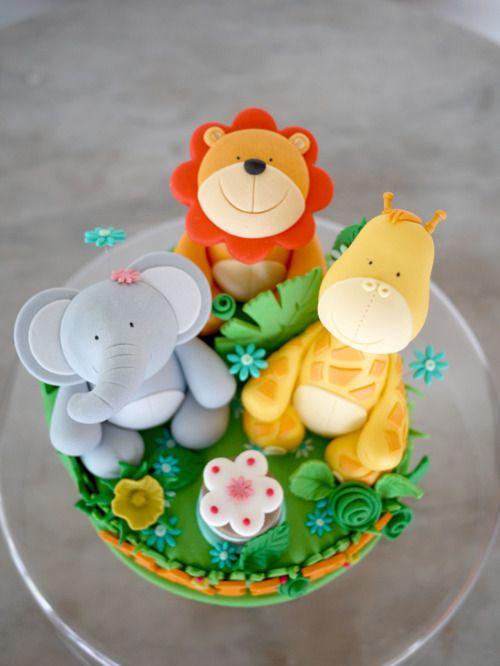 Cute Animal Birthday Cake