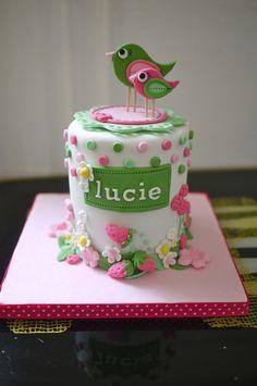 Cute Bird Birthday Cake