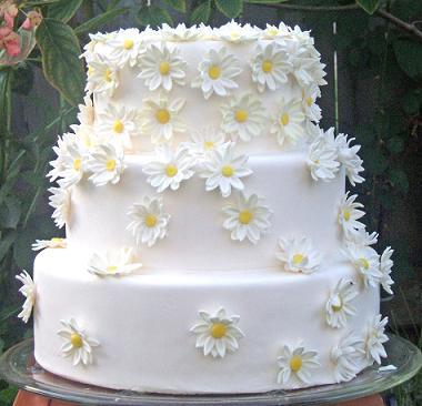 12 Photos of Design Wedding Cakes With Daisies