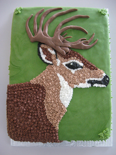 10 Photos of Deer Birthday Cake And Cupcakes