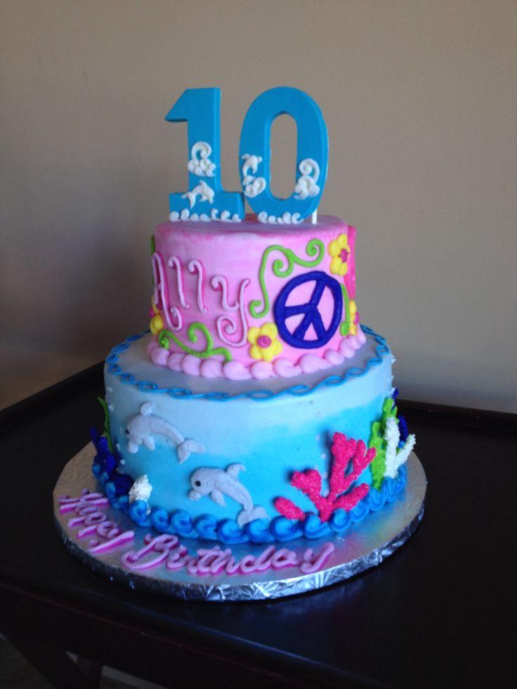 Phenomenal 12 Cakes Theme Birthday Doulafin Photo Dolphin Themed Birthday Funny Birthday Cards Online Alyptdamsfinfo