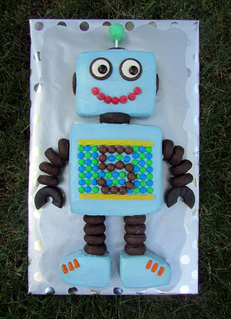 Easy Robot Birthday Cake