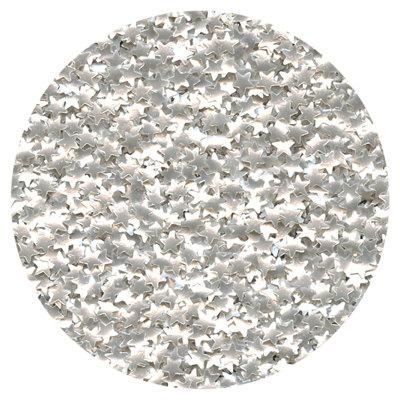 Edible Silver Glitter Star