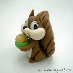 Fondant Squirrel Cake Topper