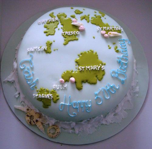 Globe Birthday Cake