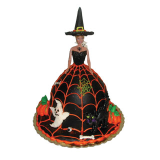 Halloween Barbie Doll Cake