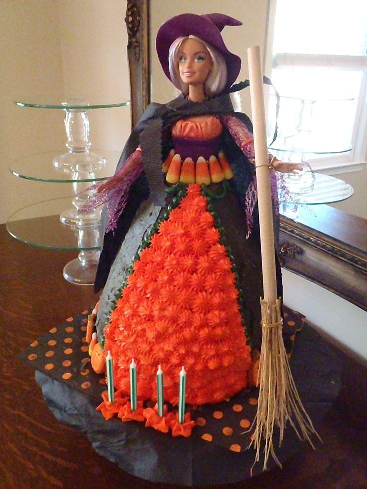 Halloween Birthday Cakes with Witches