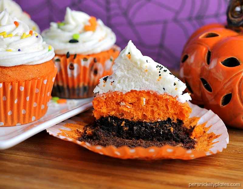 Halloween Brownie Cake Cupcakes