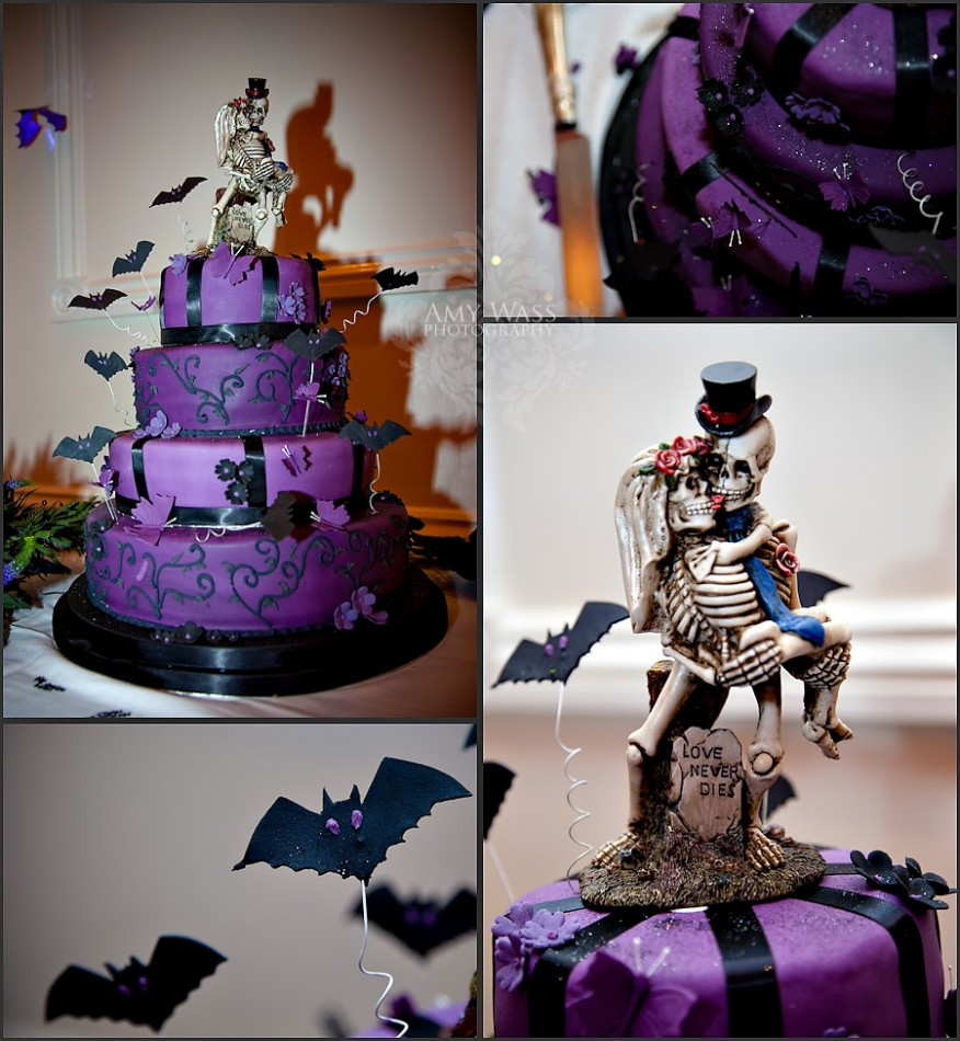 8 Photos of Halloween Black And Purple Wedding Cakes