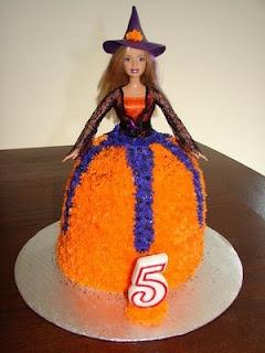 Halloween Witch Barbie Cake
