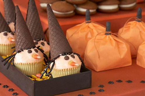 Halloween Witch Cupcakes Cones