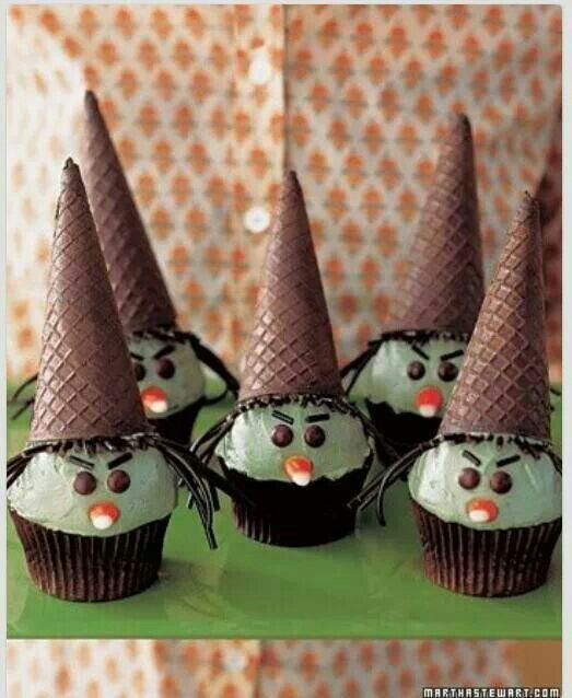 9 Photos of Sugar Cone Witch Cupcakes Halloween
