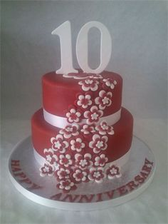 Happy 10th Wedding Anniversary Cake