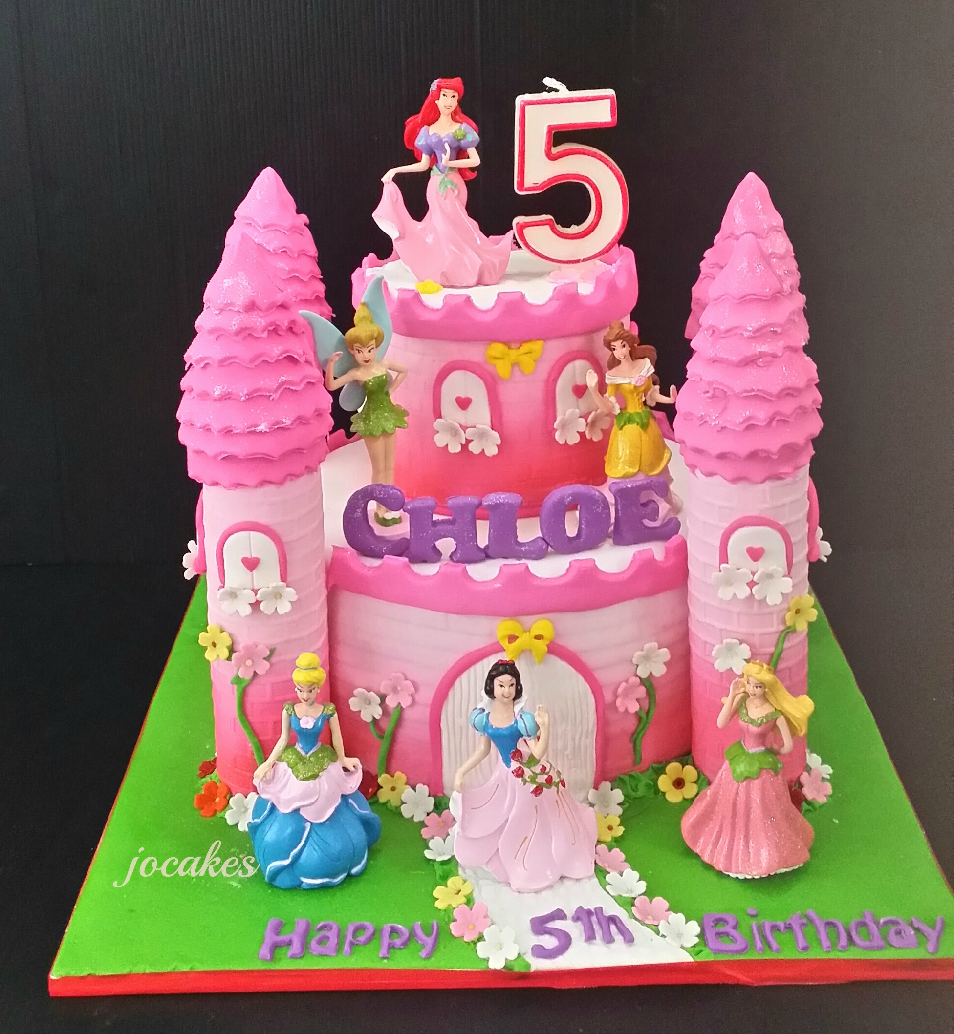 Wondrous 12 Castle Cakes For Girls 5Th Birthday Photo Happy 5Th Birthday Funny Birthday Cards Online Alyptdamsfinfo