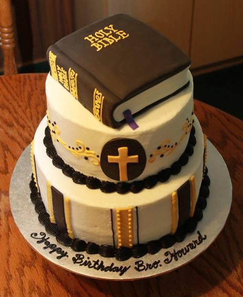 Happy Birthday Bible Cake