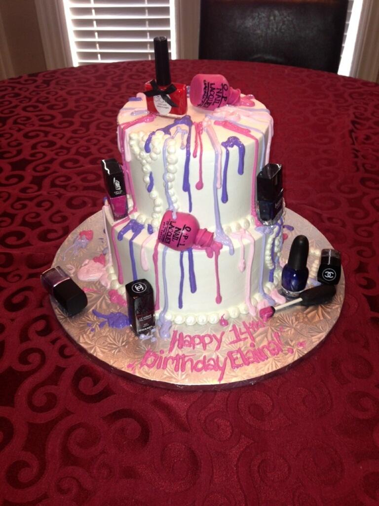 11 Flat Nail Polish Birthday Cakes Photo