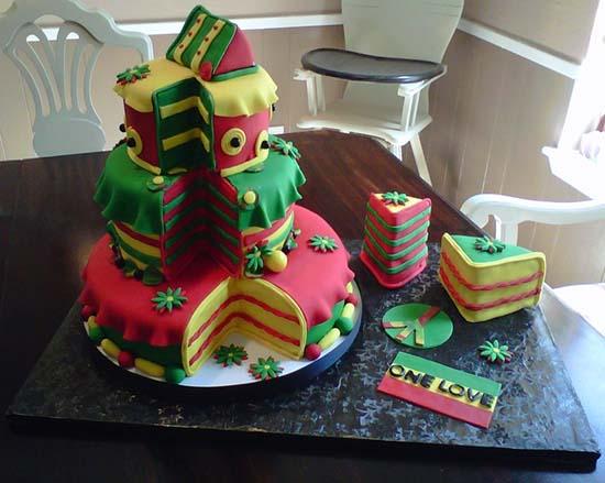 Happy Birthday Rasta Cake