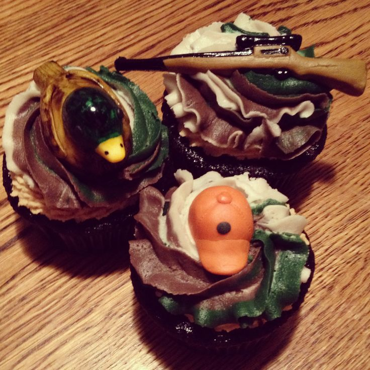 10 Photos of Hunting Birthday Cupcakes For Boys