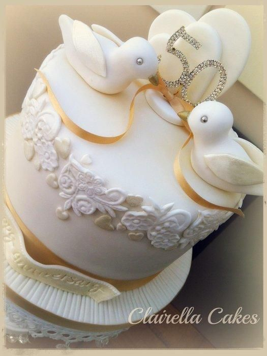 11 Photos of Anniversary Cakes Ideas With Birds