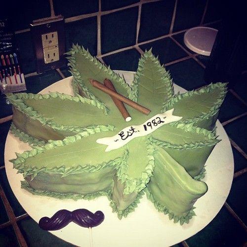 Marijuana Happy Birthday Weed Cake