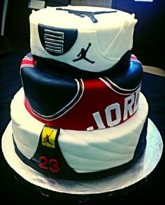 Groovy 12 Jordan Baby 1St Birthday Cakes Photo Jordan Birthday Cake Funny Birthday Cards Online Elaedamsfinfo