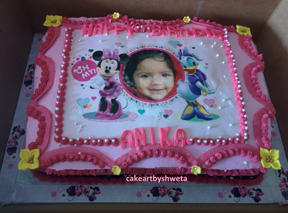 Awesome 11 Minnie Mouse First Birthday Sheet Cakes Photo Minnie Mouse Personalised Birthday Cards Veneteletsinfo