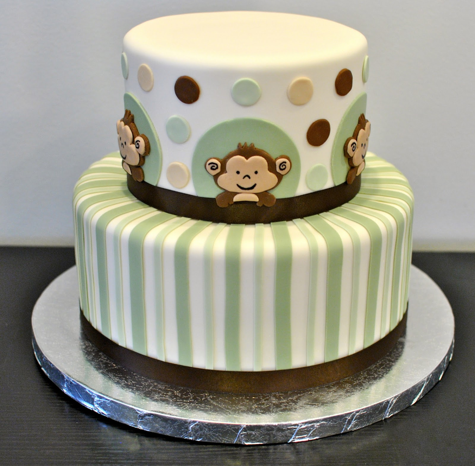 12 Photos of Cute Monkey Baby Shower Cakes