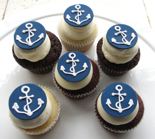Nautical Cupcake Decorations